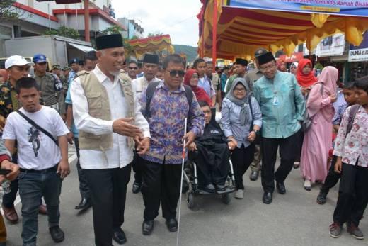 Dihadiri Perwakilan Unesco, Diresmikan Walikota Padang, Jalan Permindo Menjadi Kawasan Ramah Disabilitas