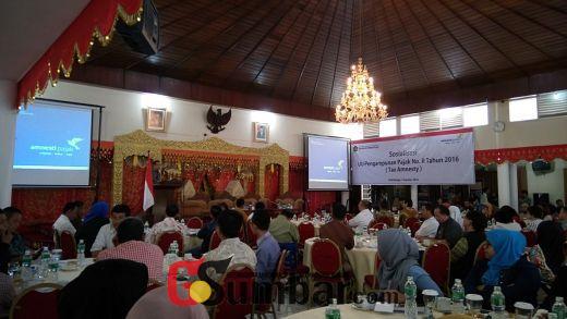 Hari ini, KPP Pratama Bukittinggi Sosialisasikan Kebijakan Tax Amnesty bagi Wajib Pajak