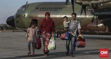 Naik Hercules, 51 Pengungsi Wamena Asal Sumbar Transit di Halim