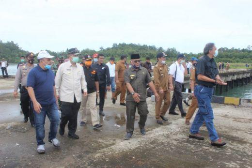 Tim Kemenko Maritim tinjau Pelabuhan Teluk Tapang Pasaman Barat
