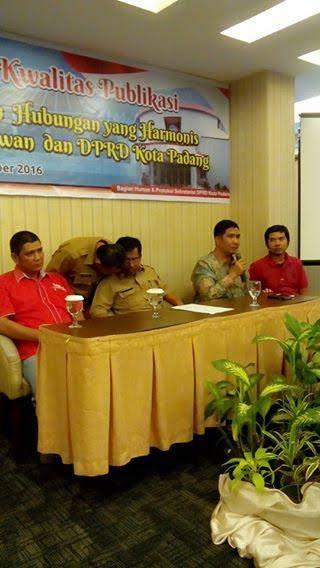 Ketua DPRD Padang, Erisman: Wartawan Juga Berjasa Membangun Kota Padang
