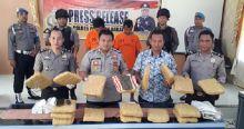 Bawa 17 Paket Besar Daun Ganja, 2 Tersangka Ditangkap Polres Pasaman Barat