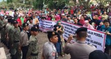 Pedagang Gelar Aksi Damai ke DPRD