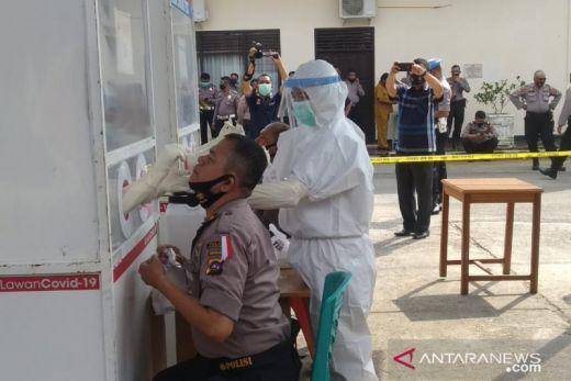 Ratusan Personel Polres Payakumbuh Ikuti Tes Usap Massal
