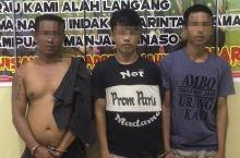 Polres Dharmasraya Tangkap Tiga Pemuda Pemakai Sabu di Koto Baru