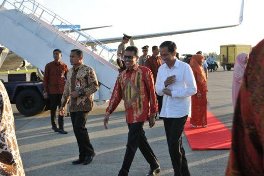Presiden Jokowi mendarat di BIM