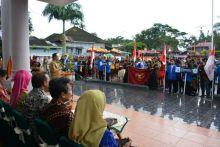 Pawai Budaya Festival Kesenian Indonesia Dilepas Di Balai Kota Padang Panjang