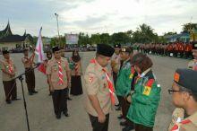 Dilepas di Dharmasraya Untuk Jambore Nasional, Kwarda 03 Sumbar Berkekuatan 803 Orang Pramuka Penggalang