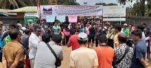 Ratusan Warga Nagari Lubuk Besar Dharmasraya Demo PT TKA