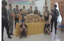 43 Kilo Ganja dari Sumut Ini Ditangkap di Pasaman