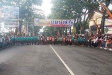 Belasan Ribu Pelari Ikuti Lomba Lari Bukittinggi Wisata Internasional 10 K 2015