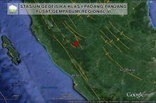 Gempa 3,4 SR Goyang Kabupaten Merangin, Jambi