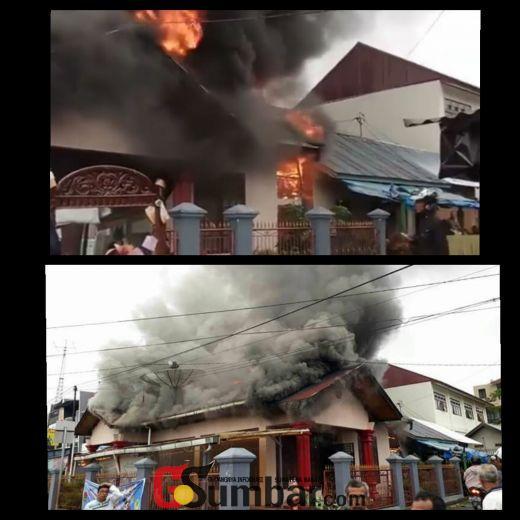 Lagi, 2 Unit Rumah di Campago Guguak Bulek Bukittinggi Ini Ludes Terbakar