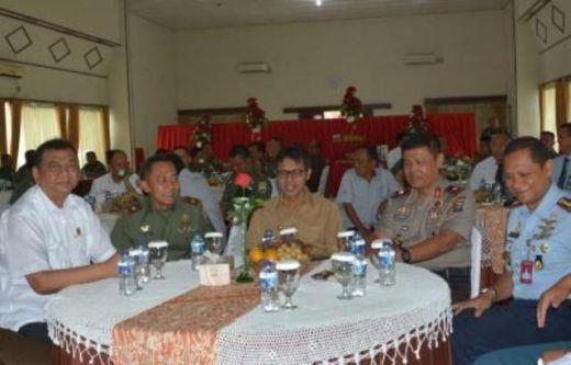 Danrem 032/Wirabraja Lakukan Coffe Morning dengan Forkompinda