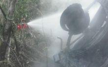 Mobil Katana Masuk Jurang, Lalu Terbakar, Pengemudi Tewas di Agam
