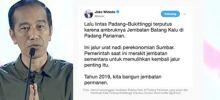 Putusnya Urat Nadi Jalur Ekonomi Sumbar karena Ambruknya Jembatan, Ini Kata Jokowi