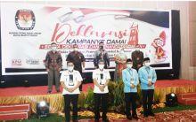 Minus Satu Paslon, KPU Bukittinggi Gelar Deklarasi Kampanye Damai