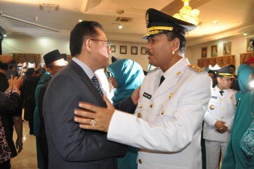 Ucapan selamat dari Ketua DPD RI terhadap Bupati Irfendi Arbi.