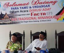 Bahas Budaya Minang Doeloe dan Kini, FACTA Gelar Diskusi Adat Hak Tradisional Minangkabau di Biaro Gadang Agam