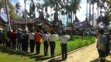 Puluhan Petani Ikuti Upacara Bendera di Istana Rakyat Selaras Alam Agam