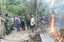 Langsung Dipimpin Sekda, Satpol PP Bakar Lokasi Judi Barambuang di Payakumbuh