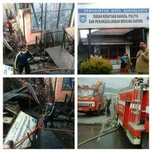 Diduga Korsleting Listrik, Kantor Badan Kesatuan Bangsa, Politik dan Penanggulangan Bencana Daerah Sawahlunto Ini Ludes Dilalap Api