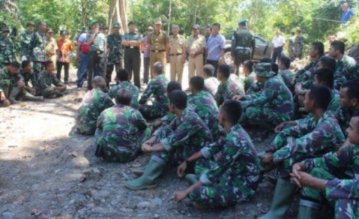 Tim Wasev TNI Kunjungi Pelaksanaan TMMD di Wilayang Kodim 0305/Pasaman