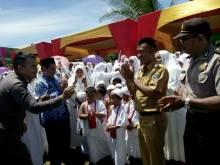 Perkuat Agama, Ribuan Pelajar TK dan PAUD Latihan Manasik Haji di Dharmasraya