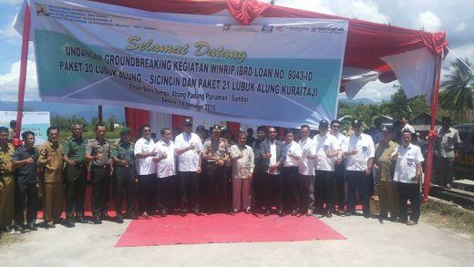 Pelebaran Jalan Lubuk Alung-Sicincin dan Jalan Lubuk Alung–Kurai Taji dimulai