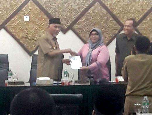 Setujui Usulan Tiga Ranperda, DPRD Padang Bentuk Panitia Khusus