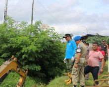 Wabup Dharmasraya Langsung Pimpin Goro Anti Banjir di RSUD Sungai Dareh
