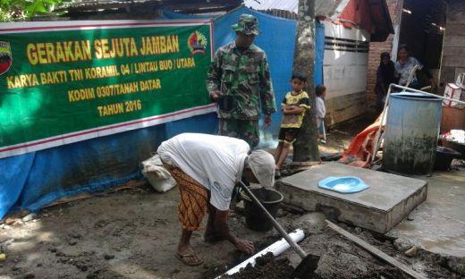 Gerakan Sejuta Jamban Dalam Rangka Karya Bakti Korem 032/Wirabraja