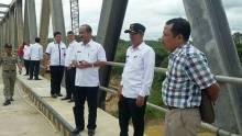 Jembatan Baturijal Dharmasraya Selesai Dibangun, Warga Gembira