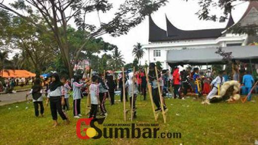 Tanamkan Kecintaan Akan Permainan Anak, Kodim 0310/SSD dan Pemkab Dharmasraya Gelar Festival Permainan Anak Nusantara