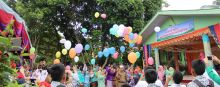 Perpisahan SMPN 4 Diwarnai dengan Pelepasan Balon
