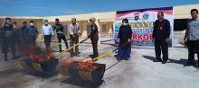 Disaksikan Pemiliknya, 16 Kilo Ganja Dibakar di Mapolda Sumbar