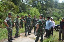 Hari Ini, Danrem 032/Wirabraja Tinjau Pekerjaan TMMD di Sungai Puar Palembayan