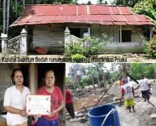 Bantuan Pemerintah Tak Kunjung Datang, Warga Sitiung Dharmasraya Gotong Royong Bangun Rumah Mbah Rakiyem