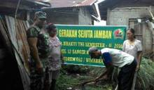 Ajak Warga Hidup Sehat, Kodim 0307/Tanah Datar Bangun Jamban Gema Juara