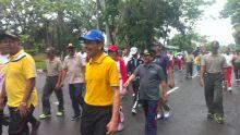 Walau Sempat Diguyur Hujan, Olah Raga Bersama,TNI,Polri dan Pemda Tetap Semangat