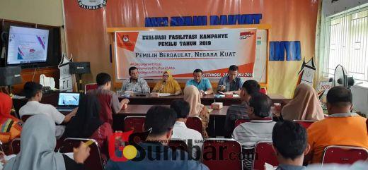 Selama Dua Hari, KPU Bukittinggi Gelar Rapat Evaluasi Fasilitasi Kampanye Pemilu 2019