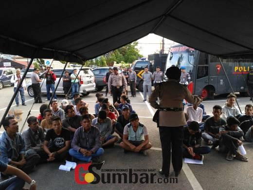 Antisipasi Kejahatan Jalanan, Polres Bukittinggi Jaring Puluhan Orang yang Diduga Preman