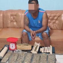 Lagi, Bandar Narkotika Jenis Ganja Diciduk Polisi di Sianok Agam