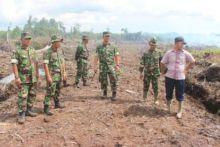 Dandim 0305/Pasaman dan Pasiter Tinjau Lokasi Cetak Sawahbaru di Ranah Batahan Pasaman Barat