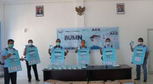 Terapkan AKB, Puluhan BUMN bersama PT Semen Padang Salurkan 10.000 Masker untuk Warga Sumbar