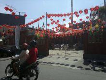 Sambut Imlek di Tahun Monyet, Kawasan Pecinaan Pondok Padang Penuh Warna Merah