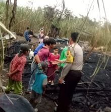 Ditinggal Bekerja ke Ladang, Rumah Warga di Balingka Agam Ini Ludes Dilalap Kobaran Api
