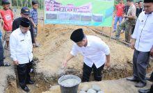 Bupati dan Kemenag Dharmasraya Letakkan Batu Pertama Pembangunan Ponpes Babus Sa'adah